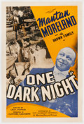 Miscellaneous:Movie Posters, One Dark Night (Million Dollar Pictures, 1939)....