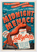 Miscellaneous:Movie Posters, Midnight Menace (All-American, 1946)....