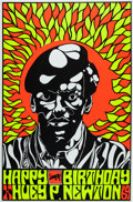 Miscellaneous:Broadside, Happy Birthday Huey Newton Poster....