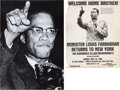 Miscellaneous:Broadside, [Nation of Islam]. Malcolm X and Louis Farrakhan Posters. ... (Total: 2 Items)