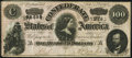 Confederate Notes:1864 Issues, T65 $100 1864 PF-2 Cr. 493 Very Fine.. ...