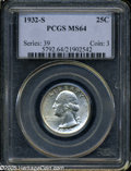 Washington Quarters: , 1932-S 25C MS64 PCGS. ...