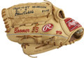 Baseball Collectibles:Others, 2003 David Wells Game Worn and Signed Fielder's Glove. David Wellslogged another great season in 2003, aiding his Yankees ...