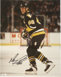 """Hockey Collectibles:Others, Wayne Gretzky & Mario Lemieux Signed Photographs. Pair of color 8x10"""" photos capture two of the greatest NHL stars of the p..."""