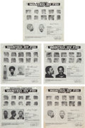 Miscellaneous:Broadside, [Robert Mims]. FBI Wanted Posters (5) Relating to the BlackMafia.... (Total: 5 Items)