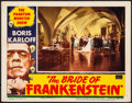 "Movie Posters:Horror, The Bride of Frankenstein (Realart, R-1953). Very Fine-. Lobby Card (11"" X 14""). Horror.. ..."