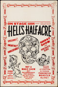 "Movie Posters:Miscellaneous, Hell's Half Acre (Kardini, 1940s). Folded, Fine/Very Fine. Poster (Approx. 28"" X 42""). Horror.. ..."