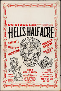 """Hell's Half Acre (Kardini, 1940s). Folded, Fine/Very Fine. Poster (Approx. 28"""" X 42""""). Horror"""