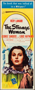 "Movie Posters:Film Noir, The Strange Woman (United Artists, 1946). Folded, Fine/Very Fine. Insert (14"" X 36""). Film Noir...."