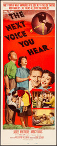 "Movie Posters:Drama, The Next Voice You Hear & Other Lot (MGM, 1950). Folded, Very Fine-. Insert (14"" X 36"") & Lobby Card (11"" X 14""). Drama.. ... (Total: 2 Items)"
