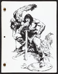 """Movie Posters:Action, Conan the Barbarian (Universal, 1982). Very Fine. Script (121 Pages, 8.5"""" X 11""""). John Buscema Artwork. Action...."""