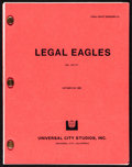 """Movie Posters:Comedy, Legal Eagles (Universal, 1985). Very Fine. Final Draft Script (134 Pages, 8.5"""" X 11""""). Comedy.. ..."""