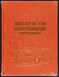 """Valley of Cliffhangers Supplement (Jack Mathis, 1995). Mint. Hardcover Book (144 Pages, 9.5"""" X 12.5""""). Serial..."""
