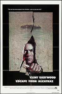 """Escape from Alcatraz & Other Lot (Paramount, 1979). Folded, Overall: Very Fine-. One Sheets (2) (27"""" X 41""""..."""