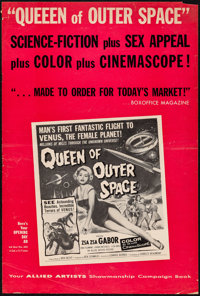 "Queen of Outer Space (Allied Artists, 1958) Folded, Fine-. Uncut Pressbook (8 Pages, 12"" X 18""). Science Ficti..."