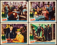 """The Killers (Universal, 1946). Fine/Very Fine. Lobby Cards (4) (11"""" X 14""""). Film Noir. From the Collection of..."""