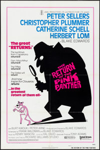 "The Return of the Pink Panther (United Artists, 1975). Folded, Very Fine-. One Sheet (27"" X 41"") Style A, R.W..."