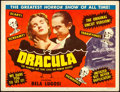Movie Posters:Horror, Dracula (Realart, R-1951). Fine+. Title Lobby Card...