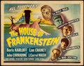 """Movie Posters:Horror, House of Frankenstein (Universal, 1944). Fine/Very Fine. Title Lobby Card (11"""" X 14"""").. ..."""