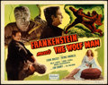 Movie Posters:Horror, Frankenstein Meets the Wolf Man (Realart, R-1949). Fine/Ve...