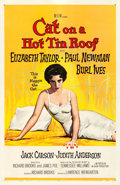 "Movie Posters:Drama, Cat on a Hot Tin Roof (MGM, 1958). Fine on Linen. One Sheet (27"" X 41""). Reynold Brown Artwork. Drama.. ..."