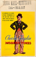 """Movie Posters:Comedy, Modern Times (United Artists, 1936). Fine+. Window Card (14"""" X22"""").. ..."""