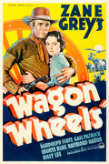 """Movie Posters:Western, Wagon Wheels (Paramount, 1934). Fine+ on Linen. One Sheet (27"""" X 41"""").. ..."""