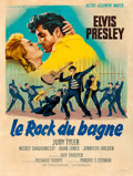 "Movie Posters:Elvis Presley, Jailhouse Rock (MGM, 1957). Fine/Very Fine on Linen. French Grande(47"" X 62.5"") Roger Soubie Artwork.. ..."