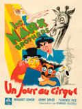 "Movie Posters:Comedy, At the Circus (MGM, 1939). Very Good/Fine on Linen. French Grande(47"" X 62.25"") Jean Une Poissonnie Artwork.. ..."