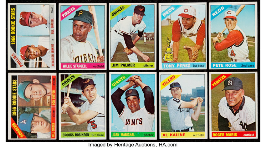 1966 Topps Baseball Partial Set 520598 With 14 High
