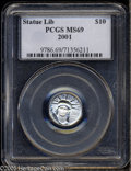 Modern Bullion Coins: , 2001 P$10 Tenth-Ounce Platinum Eagle MS69 PCGS. ...