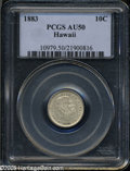 Coins of Hawaii: , 1883 10C Hawaii Ten Cents AU50 PCGS. ...