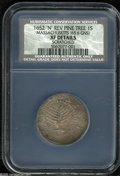 Colonials: , 1652 SHILNG Pine Tree Shilling, Large Planchet, XF Details,Scratched, NCS....
