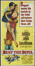 "Movie Posters:Adventure, Beat the Devil (United Artists, 1953). Three Sheet (41"" X 81"").Adventure...."