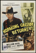 """Movie Posters:Western, Hopalong Cassidy Returns (Screen Guild, R-1946). One Sheet (27"""" X 41""""). Western...."""