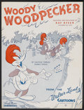 "Movie Posters:Animated, Woody Woodpecker Sheet Music (Walter Lantz, 1948). Sheet Music (9""X 12""). Animated...."