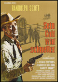 "Movie Posters:Western, Buchanan Rides Alone (Columbia, 1958). German A1 (23.25"" X 33""). Western...."