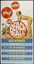 "Movie Posters:Rock and Roll, Beach Ball (Paramount, 1965). Three Sheet (41"" X 81""). Rock andRoll...."