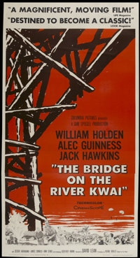 "The Bridge On The River Kwai (Columbia, 1958). Three Sheet (41"" X 81""). Academy Award Winner"