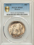 1923-S 50C Monroe MS65 PCGS Gold Shield. PCGS Population: (517/120). NGC Census: (349/72). CDN: $550 Whsle. Bid for prob...