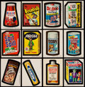 "Non-Sport Cards:Lots, 1970's Topps ""Wacky Packages Stickers""/Checklist Collection (148)...."