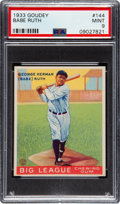 Baseball Cards:Singles (1930-1939), 1933 Goudey Babe Ruth #144 PSA Mint 9....