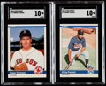 Baseball Cards:Sets, 1984 Fleer Update Baseball High Grade Complete Set (132) With SGC Gem Mint 10 Clemens and Puckett. ...