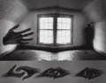 Photographs:Gelatin Silver, Jerry Uelsmann (American, b. 1934). Questioning Moment, 1971. Gelatin silver. 10-3/4 x 13-1/2 inches (27.3 x 34.3 cm). I...