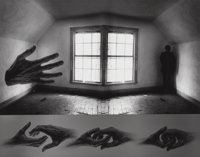 Jerry Uelsmann (American, b. 1934) Questioning Moment, 1971 Gelatin silver 10-3/4 x 13-1/2 inches