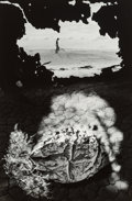 Photographs:Gelatin Silver, Jerry Uelsmann (American, b. 1934). Untitled (Figure and caked ground), 1968. Gelatin silver. 13-1/2 x 9 inches (34.3 x ...