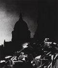 Photographs:Gelatin Silver, Bill Brandt (British, 1904-1983). St. Paul's Cathedral inMoonlight, 1939. Gelatin silver, printed later. 12-3/8 x10-1/...