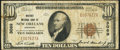 National Bank Notes:Louisiana, New Orleans, LA - $10 1929 Ty. 1 Whitney NB Ch. # 3069 Very Good-Fine.. ...
