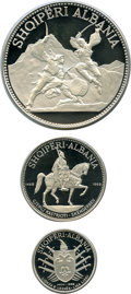 Albania, Albania: People's Socialist Republic 3-Piece Uncertified silver Proof Set 1970, ... (Total: 3 coins)