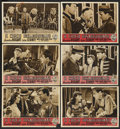 """Movie Posters:Drama, The Wagons Roll at Night (Warner Brothers, 1948). Italian Lobby Cards (6) (9.5"""" X 13.25""""). Drama.... (Total: 6 Items)"""